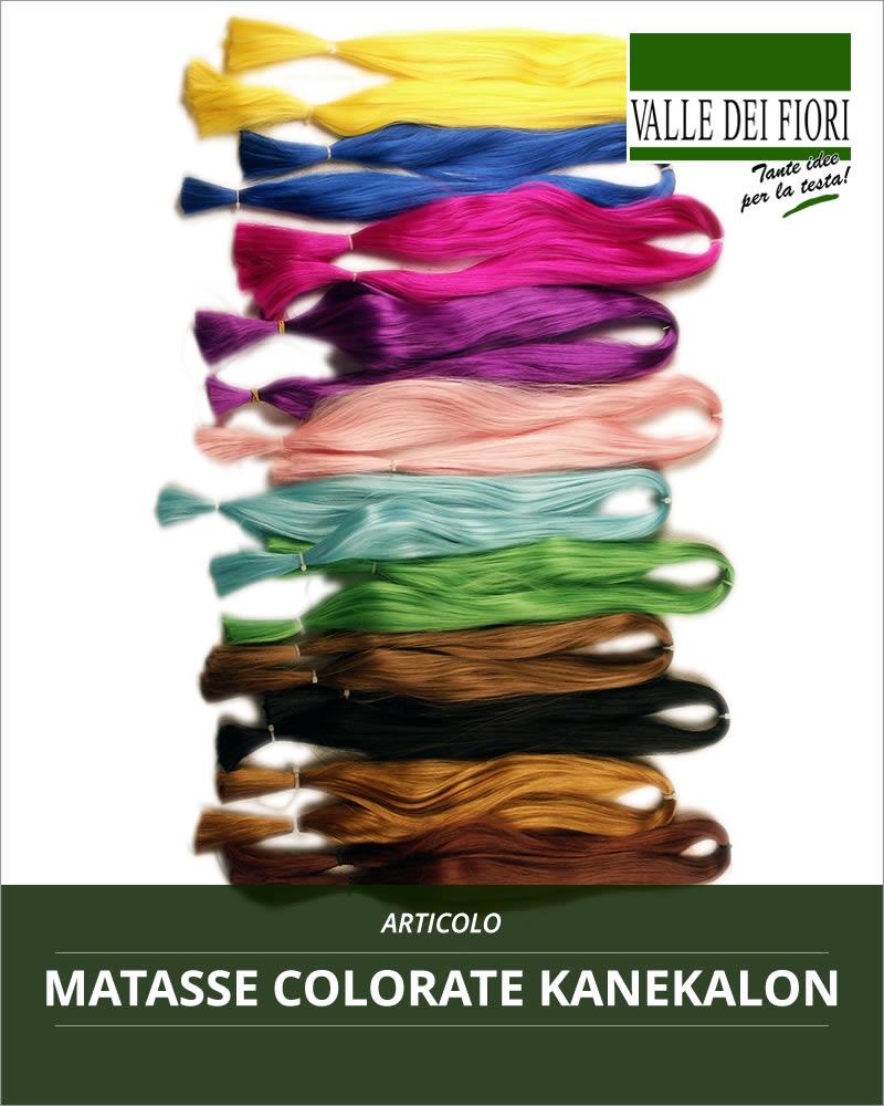 Matasse colorate Kanekalon