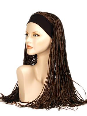 Parrucca donna a treccine con fascia